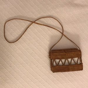 Wicker Shoulder Bag Urban Outfitters